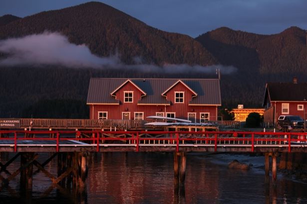Tofino house on the water